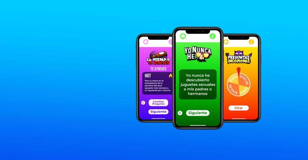 Screenshots de juegos de A Beber App